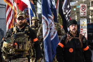 An armed militia gathers