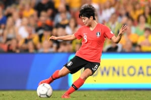 Ji So-yun: very much the leading light for South Korea and deadly from set pieces.