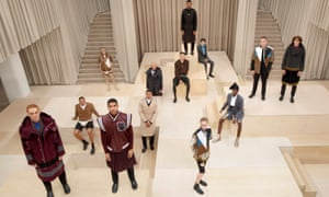 Burberry's latest catwalk show – filmed in the brand's empty and shuttered London flagship store.