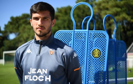Lorient's record signing Adrian Grbic.