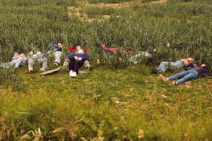 Teens Relaxing in a Field, northern Germany, 2020