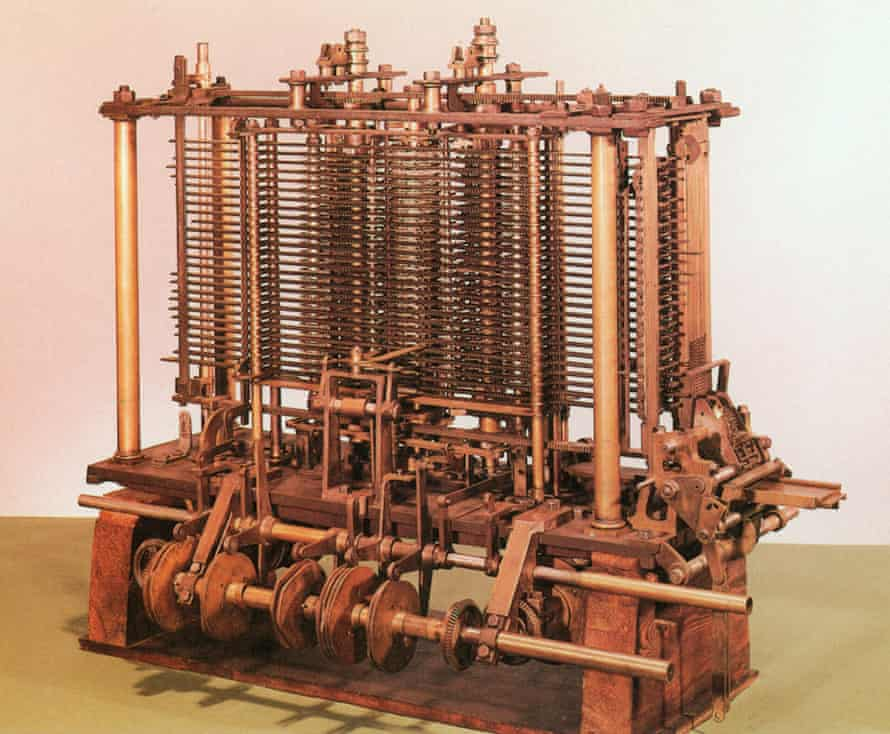 A scaled-down version of Charles Babbage's Analytical Engine, constructed in the 1860s.