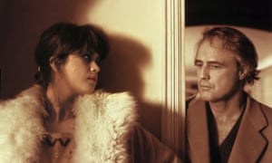 Maria Schneider and Marlon Brando in the 1972 film Last Tango in Paris.