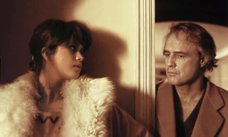 Maria Schneider and Marlon Brando in the 1972 film Last Tango in Paris.