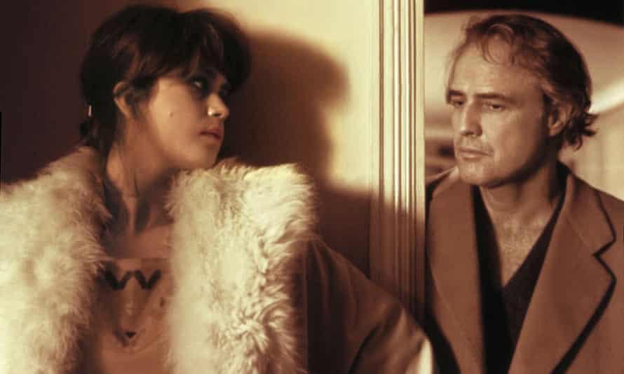 Maria Schneider and Marlon Brando in The Last Tango in Paris.