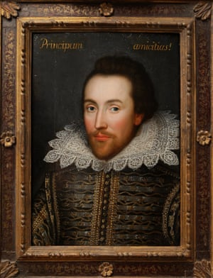 A painting believed to be the only image of Shakespeare made during his life.