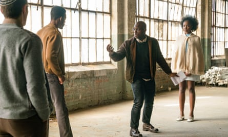 Director Barry Jenkins n the set of If Beale Street Could Talk (2018).