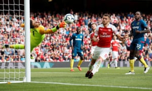 Lukasz Fabianski, here in action for West Ham at Arsenal, says 'probably life will punish me' if he slips into a comfort zone.