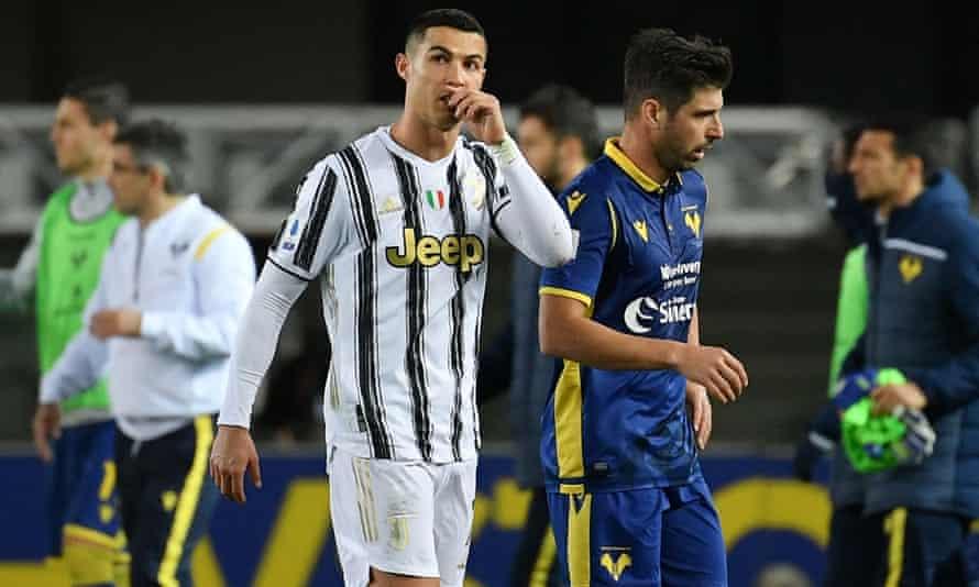 Cristiano Ronaldo's goal was not enough to give Juventus an overdue away win.