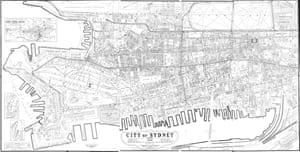 Map of the central city of Sydney from 1910, just seven years before JD Fitzgerald derided the city's lack of planning.
