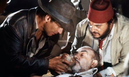Connery in Indiana Jones and the Last Crusade.