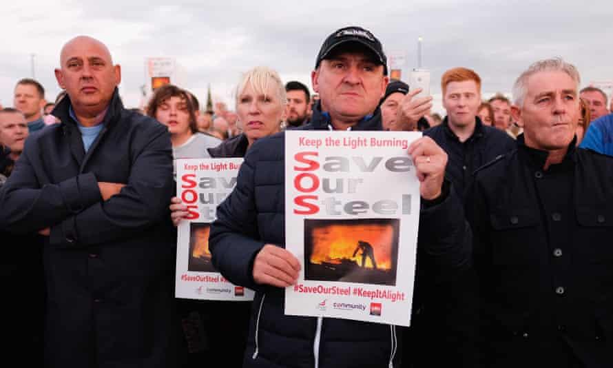 Protest against Redcar steel plant closure