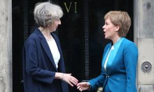 Theresa May and Nicola Sturgeon in Edinburgh in 2016