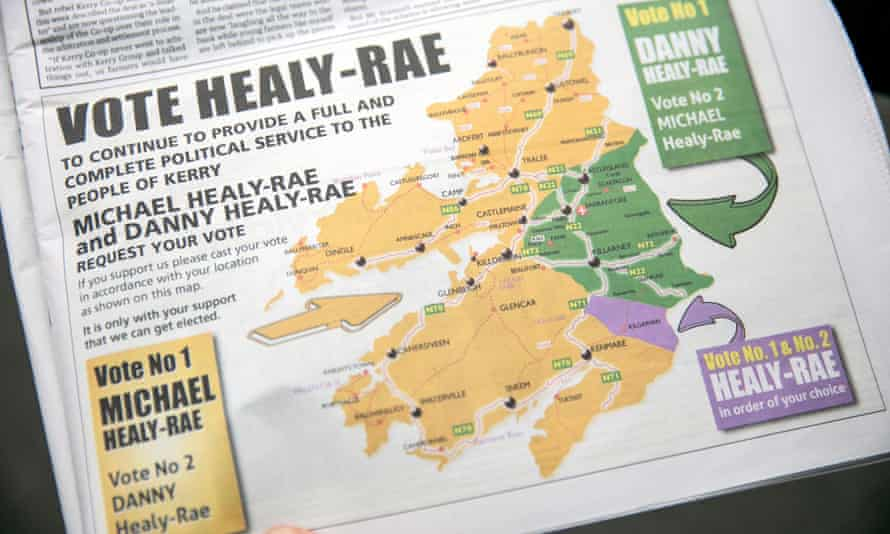 One of the Healy-Raes' campaigns in a local newspaper.