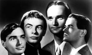 Kraftwerk in 1997, with Florian Schneider pictured second from right.