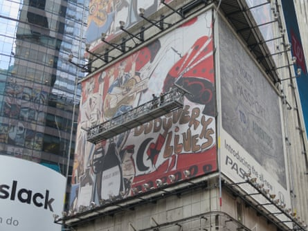 Zapata's mural covers the west, east and south sides of One Times Square.
