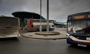 Buses in Barnsley, South Yorkshire.