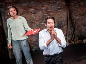 Celeste Den (Yin Yin) and Christopher Goh (Shen) in The King's of Hell's Palace at Hampstead theatre.
