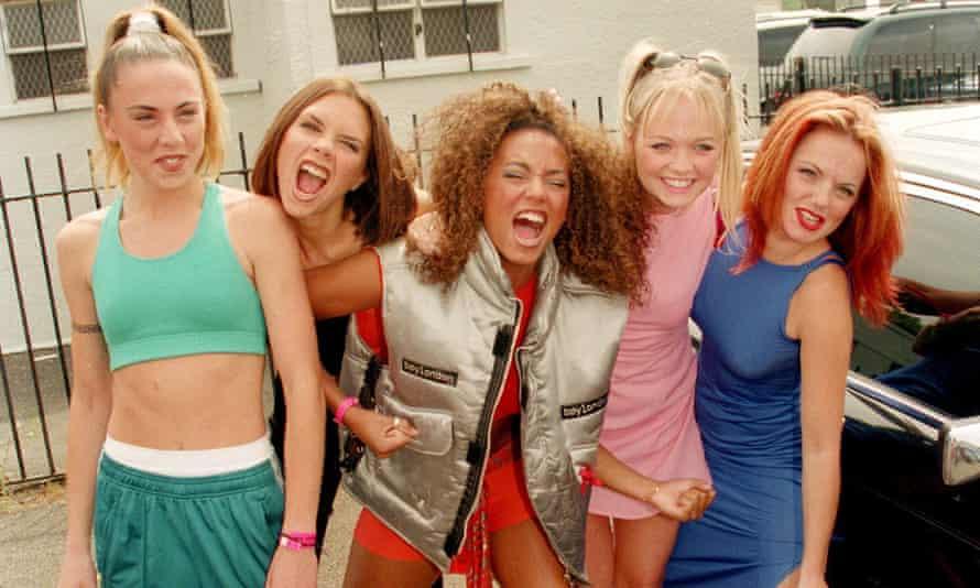 The Spice Girls – Mel C, Victoria (then) Adams, Mel B, Emma Bunton and Geri Halliwell – in 1996.