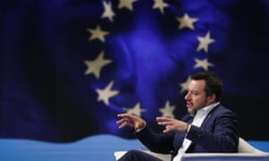 Matteo Salvini, the rise of whose League party was labelled a 'tsunami' by Bartolo.