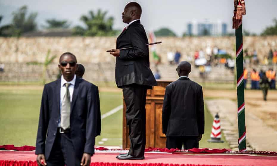 President Pierre Nkurunziza attends Burundi's indepencence anniversary celebrations in July 2015.