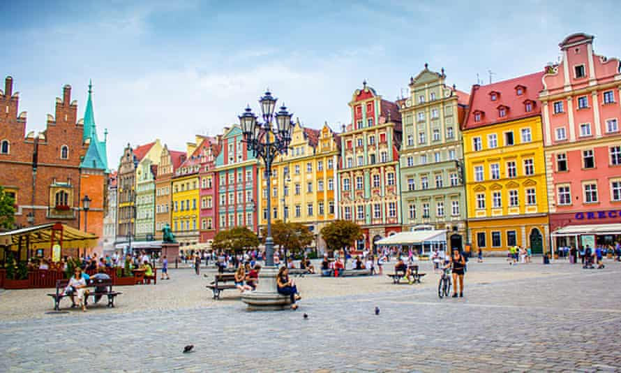 Old Market Square in the Old Town in Wroclaw