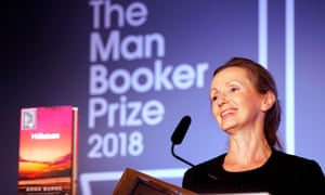 Anna Burns receives the Man Booker Prize for Fiction 2018.