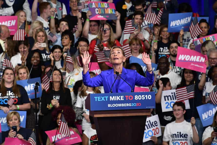 Stumping for Mike Bloomberg in the US presidential election.