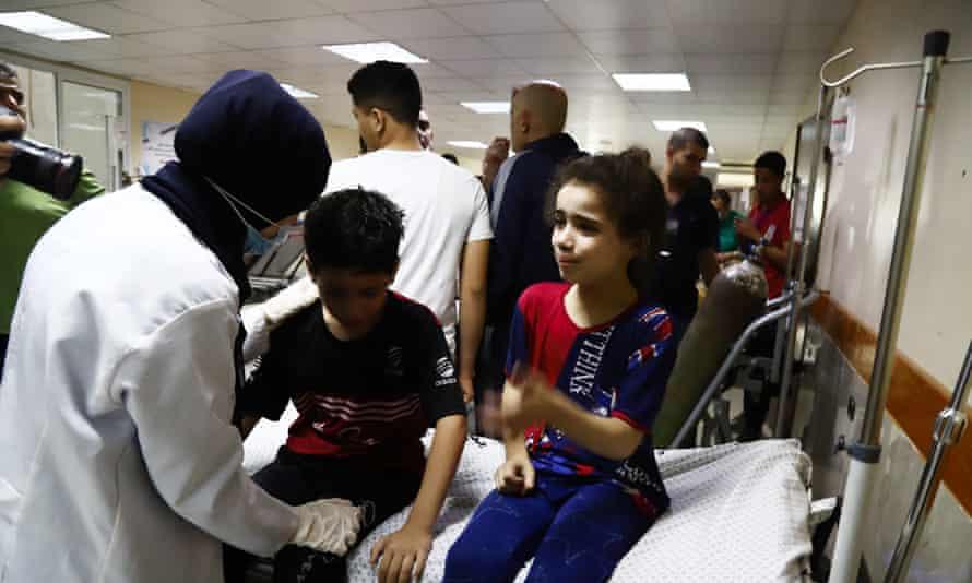 Children receive medical care