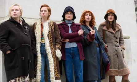 The cast of the film Misbehaviour