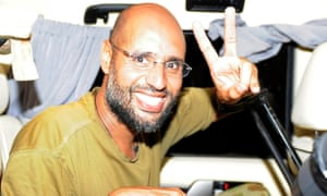 Saif al-Islam Gaddafi pictured in 2011. Observers said they doubted the dictator's son, would be able to muster enough loyalists to pose a serious threat to the capital.