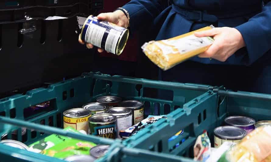 Goods a food bank