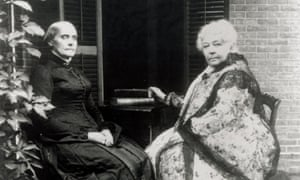 Elizabeth Cady Stanton, right, pictured with Susan B Anthony, organized the first women's rights convention with the aim of instigating the 'greatest rebellion the world has ever seen'.