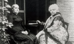 Susan B Anthony, left, with Elizabeth Cady Stanton in this undated photo. Anthony was fined $100 for her illegal act, a half-century before the expansion of the franchise.