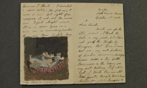 A letter with a drawing