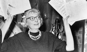 'She picked up things no one else could see' … Jane Jacobs holding a petition.