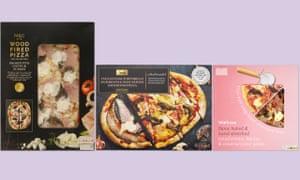 ham and mushroom pizzas