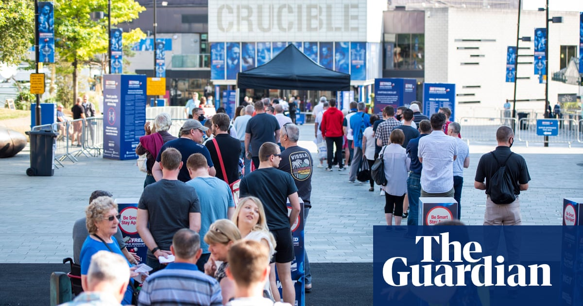 Bizarre day for snooker fans at the Crucible provides dose of new normal | Aaron Bower
