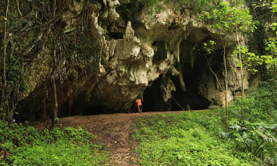 Leang Panninge cave on the island of Sulawesi