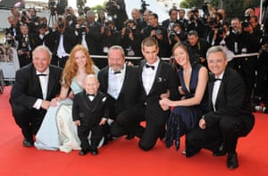 With his Imaginarium costars at the 62nd Cannes Film Festival in 2009.