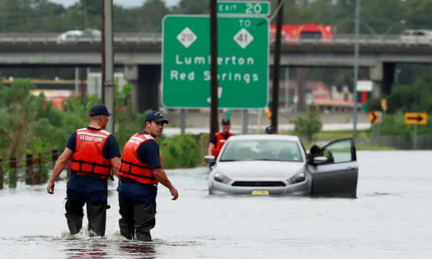 Hurricane Florence in North Carolina in 2018. The report fears relentless floods and fires in the US could threaten financial institutions.