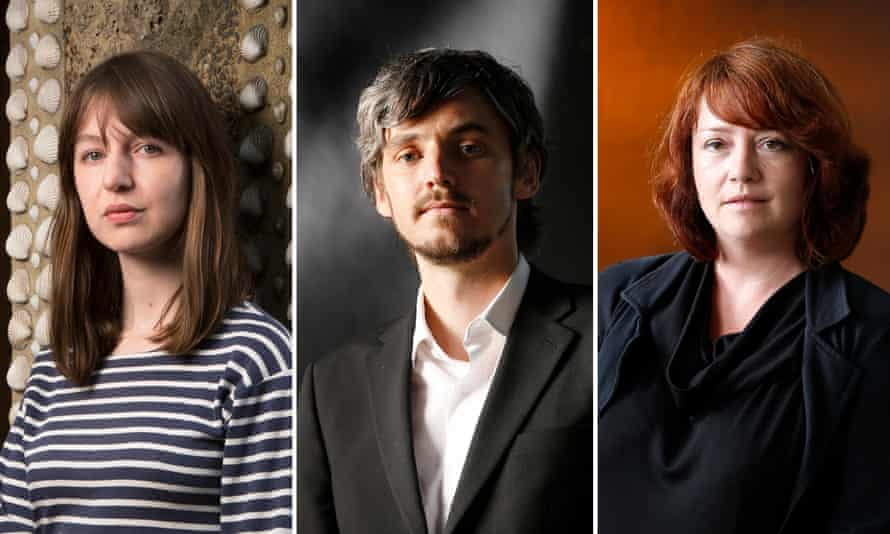 'Rather tremendous' … from left, Sally Rooney, Rob Doyle and Eimear McBride.