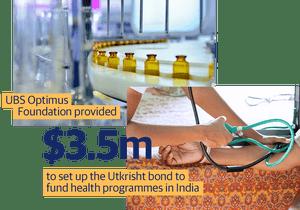 UBS Optimus Foundation provided $3.5m to set up the Utkrisht bond to fund health programmes in India