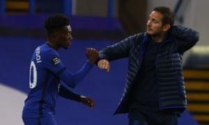 Callum Hudson-Odoi and Frank Lampard