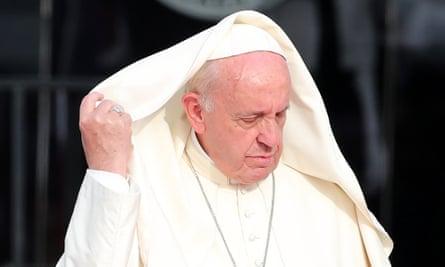 Pope Francis arrives in Peru