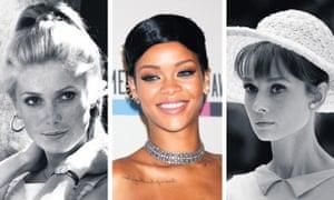 Catherine Denueve, Rihanna and Audrey Hepburn.