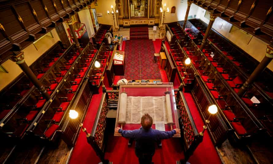 The Manchester Jewish Museum's chief executive, Max Dunbar, inside the Grade II*-listed former synagogue