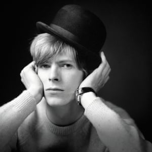English singer, songwriter and actor David Bowie stands for a photoshoot with photographer Gerald Fearnley circa 1967.All photographs: Gerald Fearnley