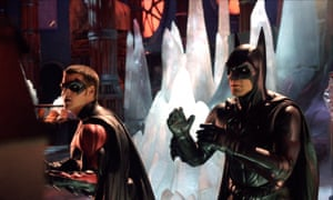 Chirs O'Donnell, left, and George Clooney in Batman and Robin, 1997. Joel Schumacher apologised for the film in 2017.