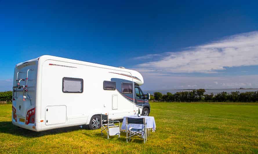 Campervan in Northumberland